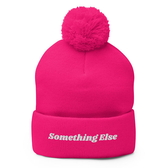 Something Else Pom-Pom Beanie