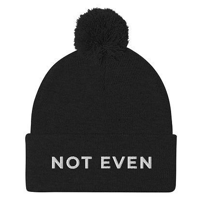 Not Even Pom-Pom Beanie
