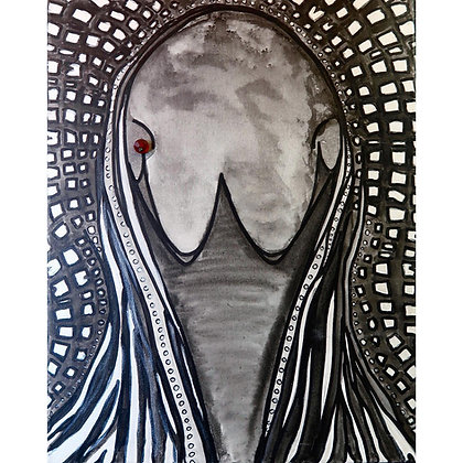 Loon Spirit Mask Canvas