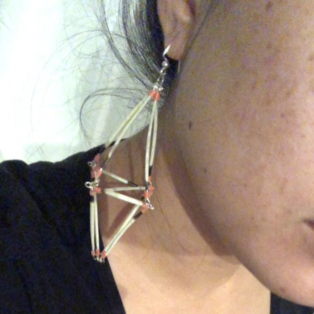3D Porcupine Quill Earring