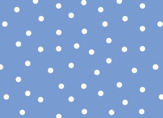 Acufactum Baumwollstoff Tupfen gross blau-weiss