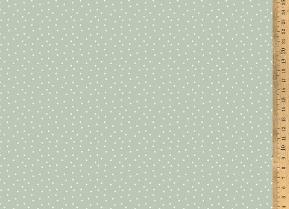 Acufactum Baumwollstoff Tupfen graugrün-weiss