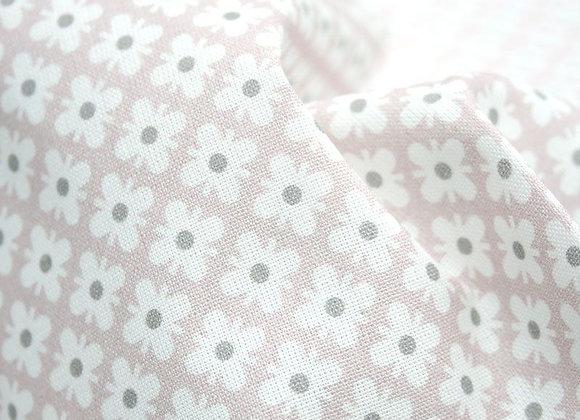 Acufactum Baumwollstoff Ornamente ecru-rosa-grau