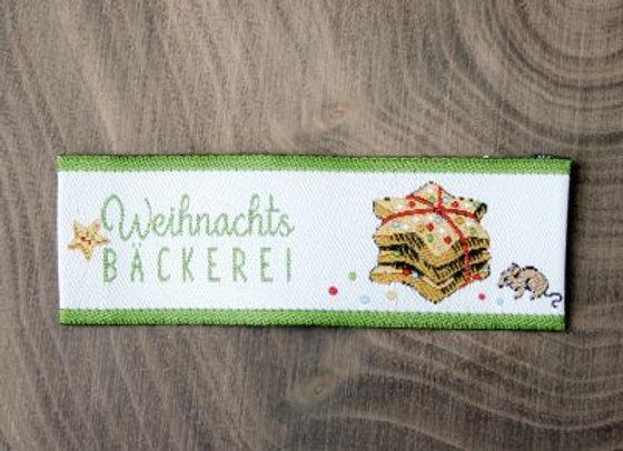 Webetikett Weihnachts Bäckerei
