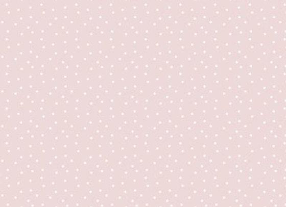 Acufactum Baumwollstoff rosa / weiss gepunktet