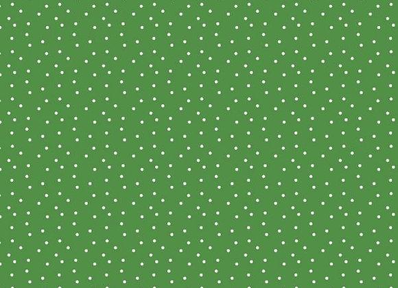 Acufactum Baumwollstoff Tupfen grün-weiss
