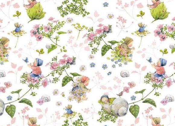 Acufactum Baumwollstoff Blütenbabies rosa