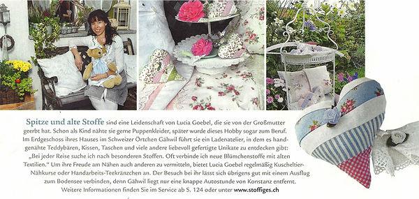 Wohnen & Garten - August 2014 - Stoffiges & mehr