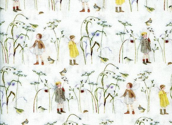 Acufactum Baumwollstoff Elfen im Wintergras
