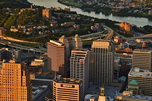 Cincinnati Skyline Tour for 3 passengers