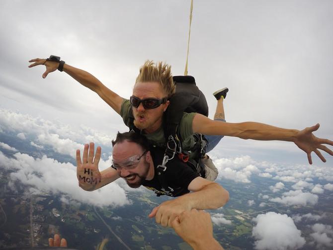 Skydiving... 6