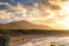 ireland sunset dingle mt eagle beach wal