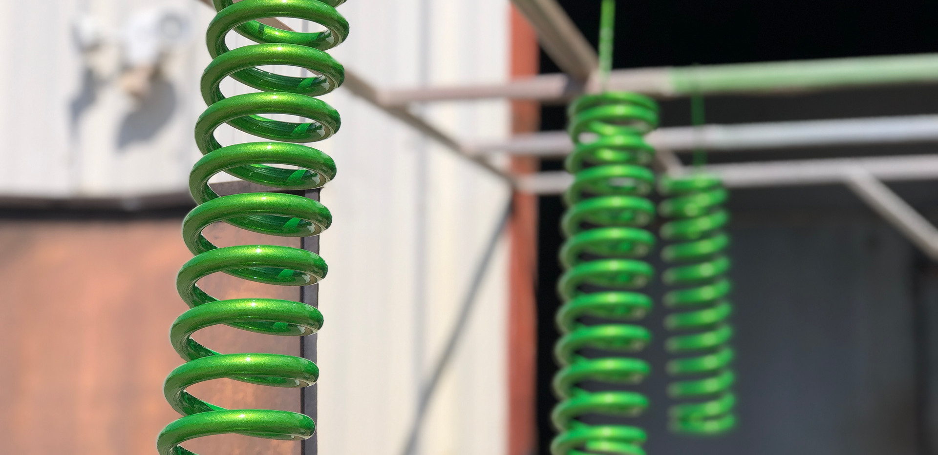 Illusion Green Powder Coated Springs