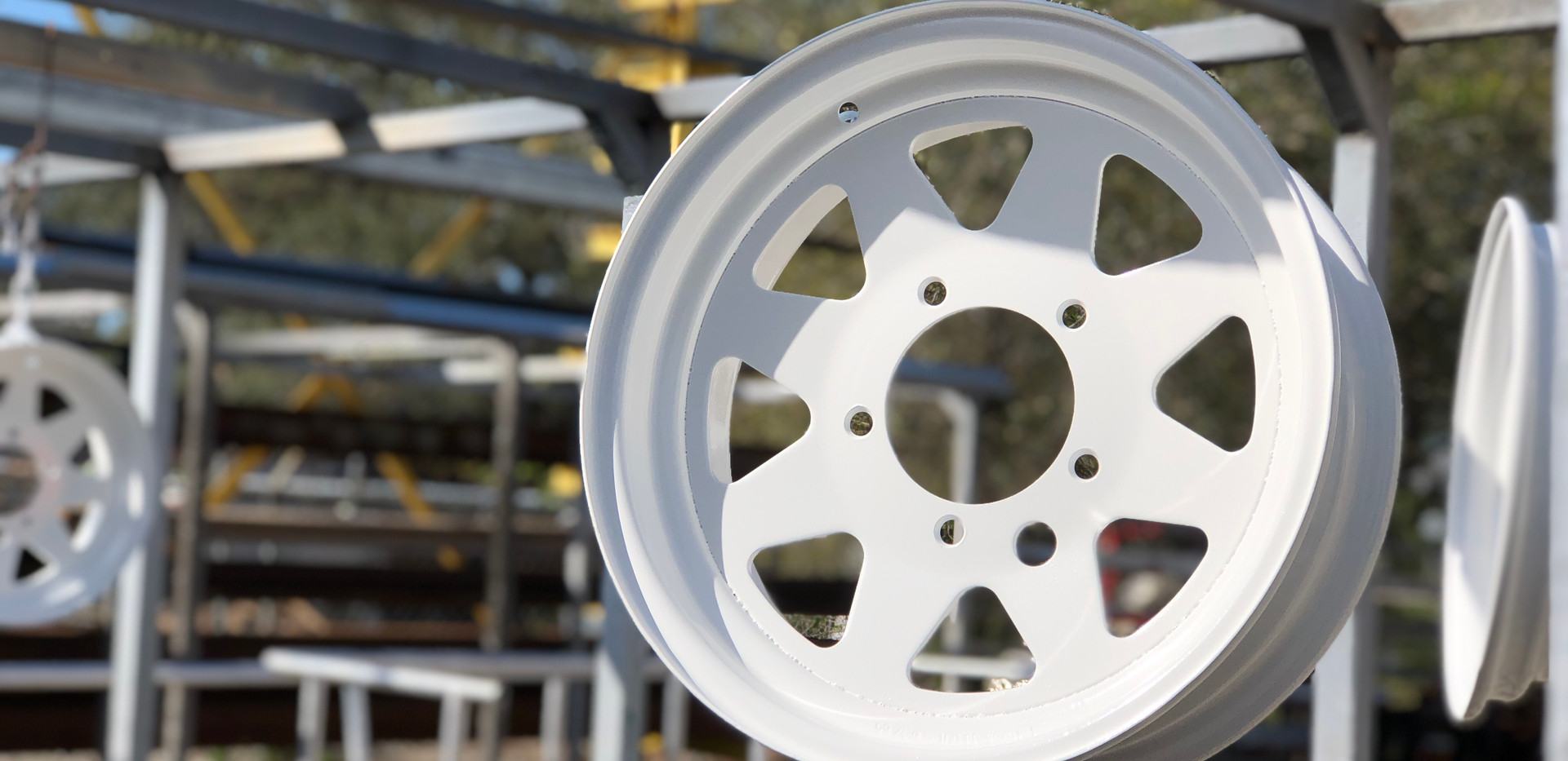 Powder Coated Trailer Tires