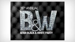 Afan Black & White Party Logo