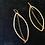 Thumbnail: Long Gold Filled Oval Dangle Earrings