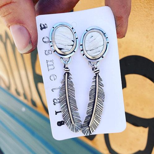 The white buffalo turquoise Earrings...