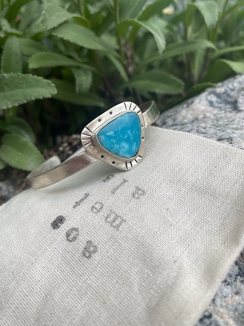 Triangle Turquoise Stacking Bracelet #1