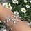 Thumbnail: Bubble Cuff Bracelet with CZ Wave
