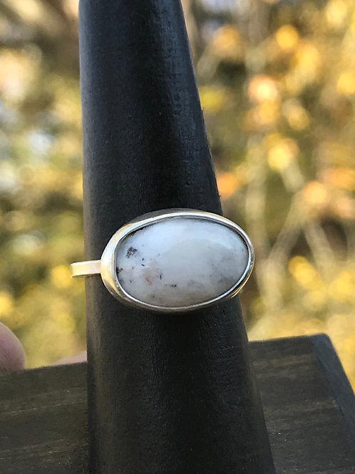 White Buffalo Ring Side Set