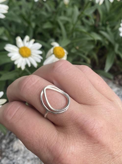 Argentium Silver Lotus Pedal Ring