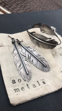 Collection - Feathers - Silver Earrings