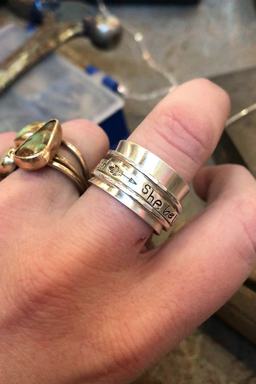 She believes she could so she did Spinner Ring