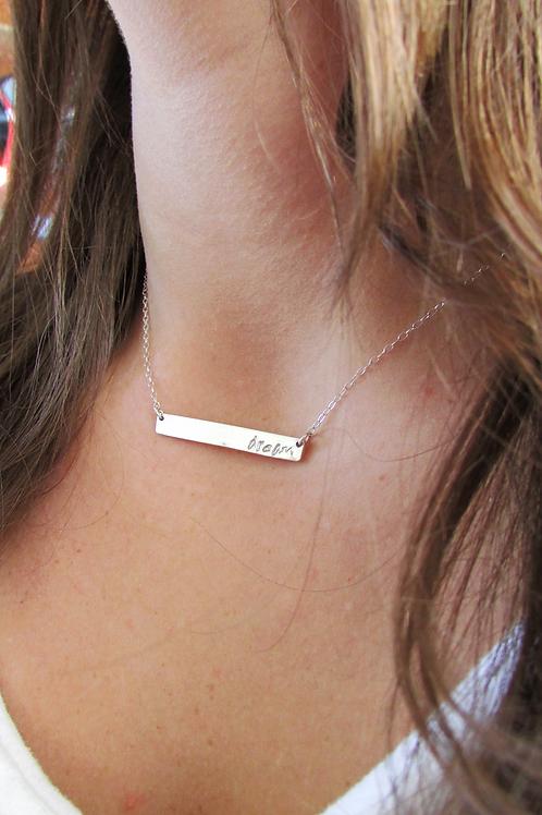 WHSL Custom Bar Necklace