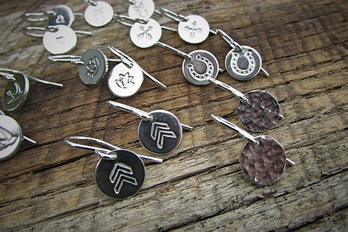 Small Silver Stamped Earrings