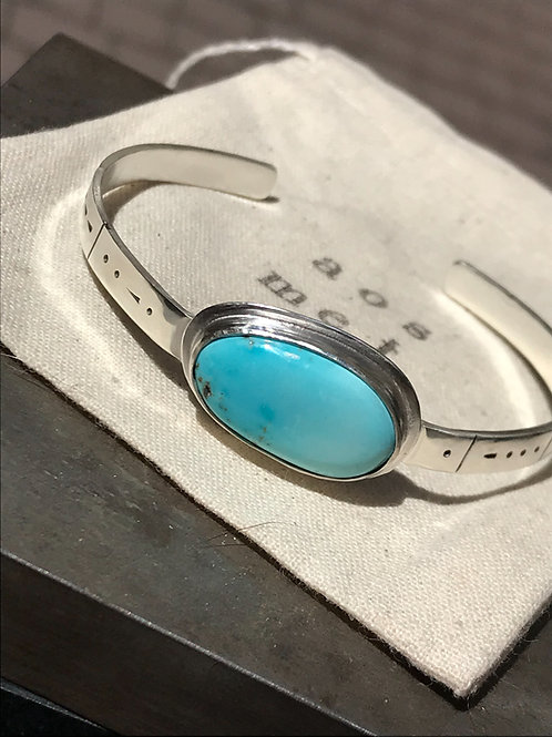 Turquoise Cuff with Morse Code