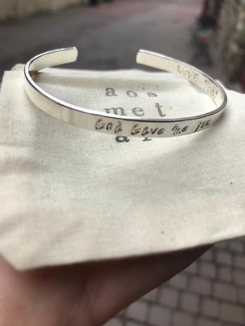 Bracelet - Cuff - Custom - Anniversary G