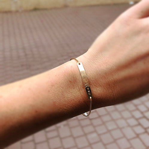 Gold Bangles add Name or Word