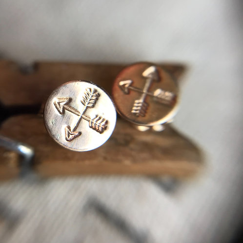 Crossed Arrow Earrings