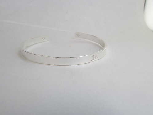 Sterling Silver Cuff with Name or Intial