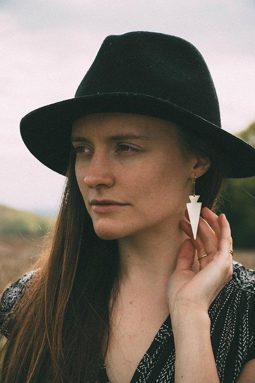 Mixed Metal Arrowhead Earrings