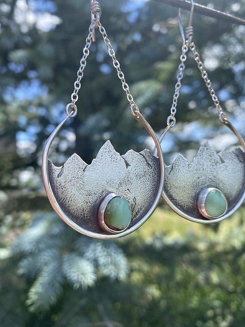 Teton Handcrafted Earrings with Turquoise