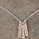 Thumbnail: Custom, Personalized Mother's Name Stamped Sterling Silver Necklace
