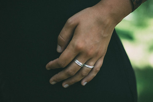 Argentium Silver Stacking Ring