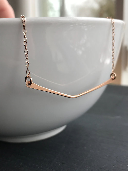 WHSL Chevron Bar Necklace