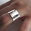 Thumbnail: Wide Silver Hammered Ring