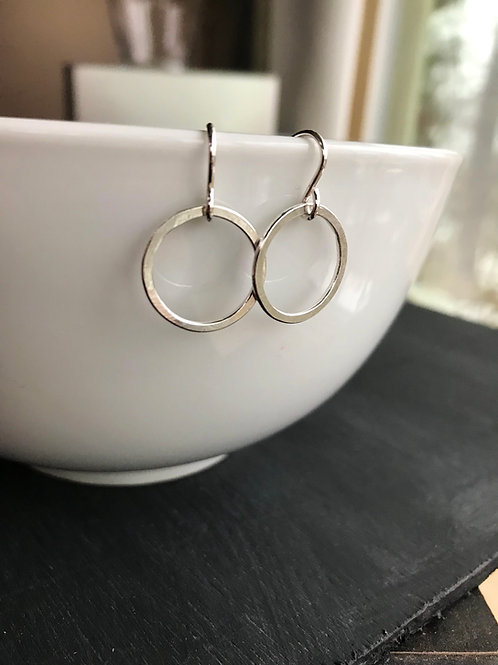 Argentium Silver Circle Earring