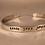 Thumbnail: Custom, Personalized Inspiration Silver Bracelet Cuff