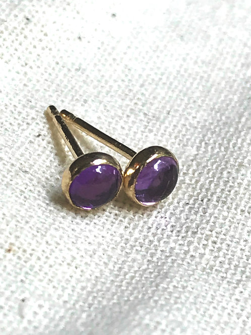 WHSL Amethyst Stud Earrings