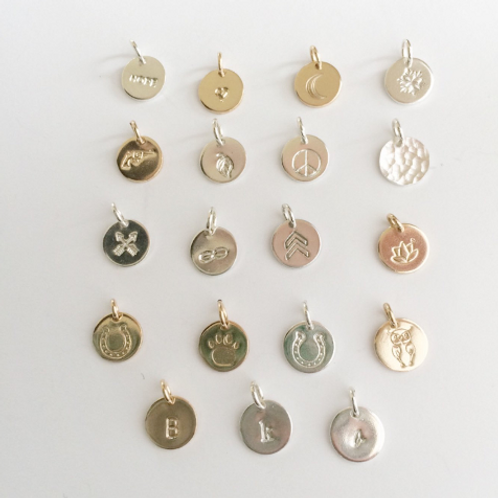 WHSL Charms Silver or Gold P-Z