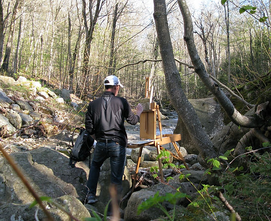 Plein air painting in the White Mountains