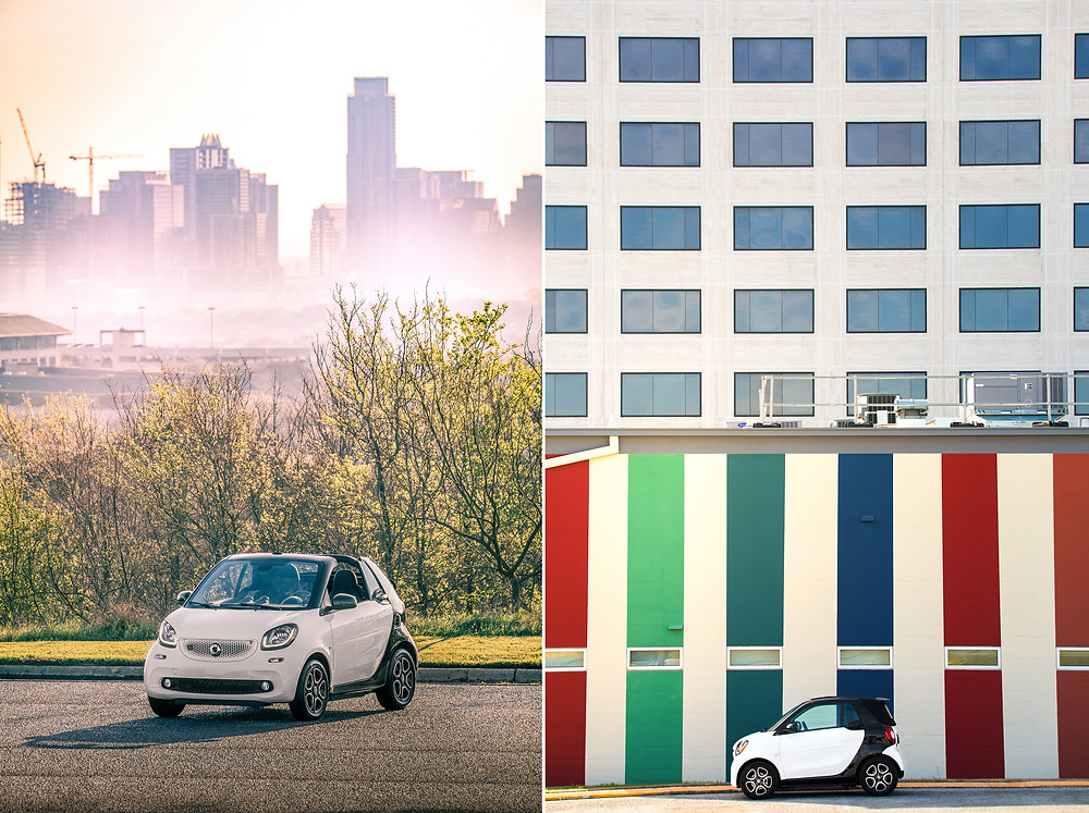 siren creatives smart car austin texas sxsw ryan koopmans photography automotive car electric