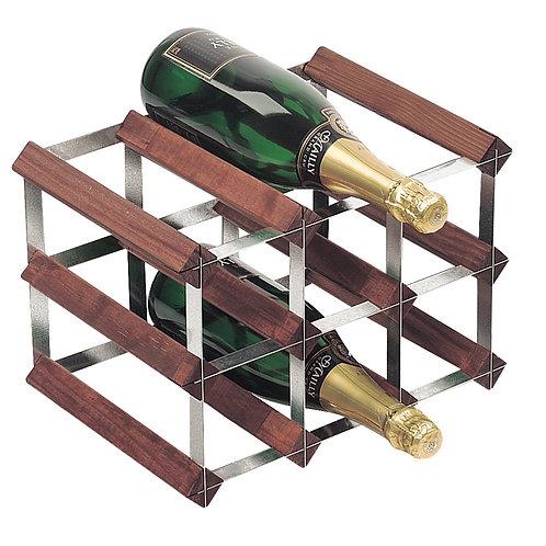 Dark Pine & Galvanised Steel Wine Rack