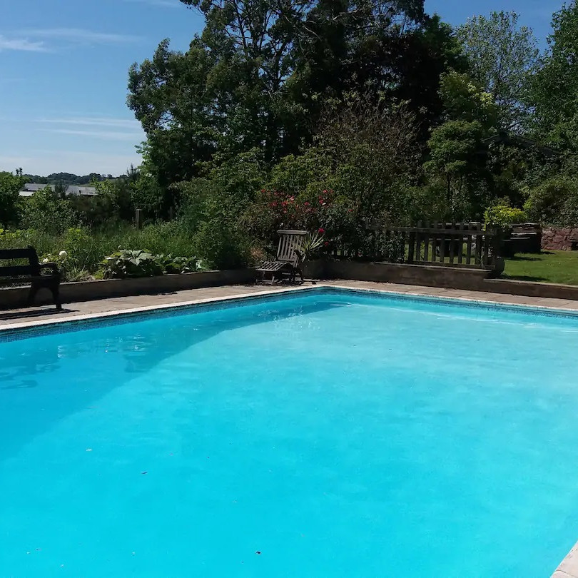 Swimming pool in summer