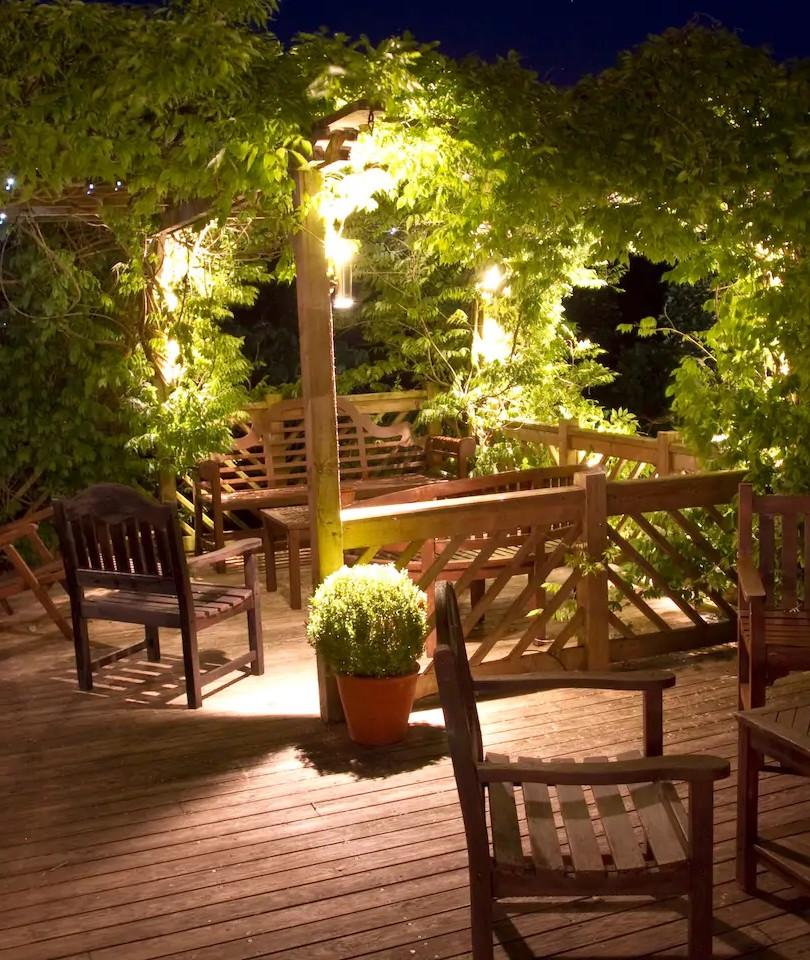 Wisteria covered patio
