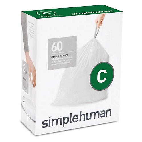 Code C Custom Fit Bin Liners 3x pack of 20 (60 Liners)